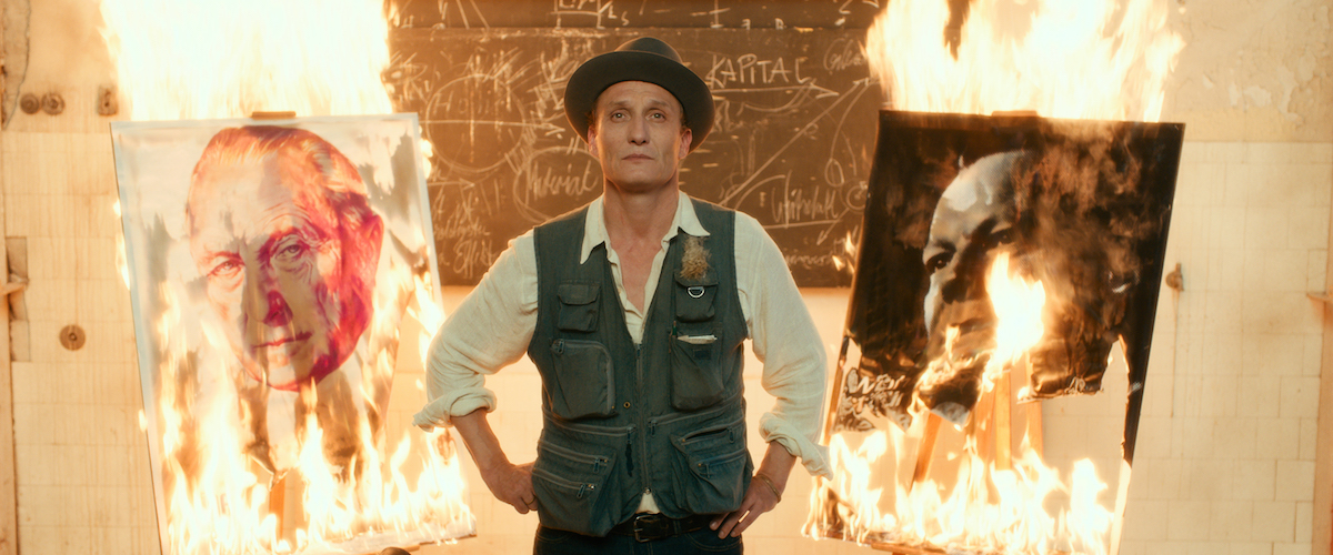 Never Look Away scene with Kurt burning his paintings