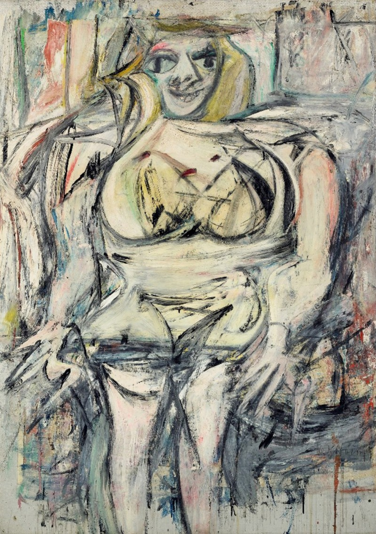This de Kooning painting is the abstract painting my art presentation is focused on.